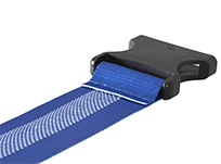 Luggage strap with anti-slide