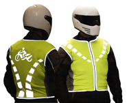 High-visibility reflective biker jacket