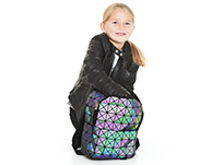 reflective iridescent backpack